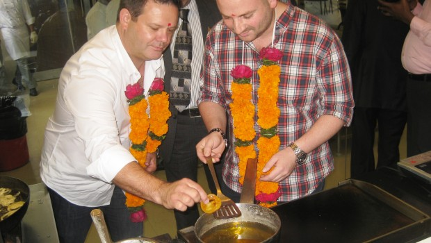 Masterchef Australia's Gary and George on their Mumbai visit in 2012