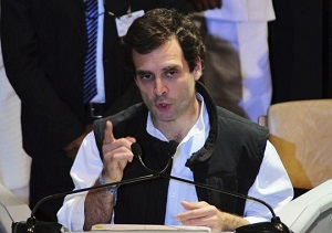 rahul gandhi gives a speech