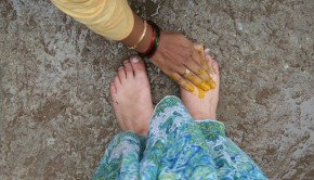 touching elders' feet