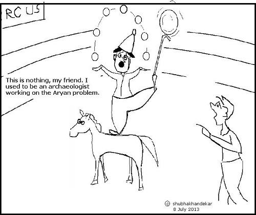 Aryan Problem, cartoon by Shubha Khandekar