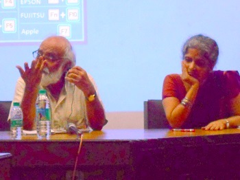 Dr Sadgopal and Ms Dhuru