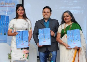 From L- R. Lara dutta, Amish Tripathi, Anju Poddar