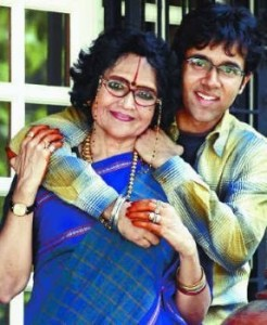 With her son Suchindra