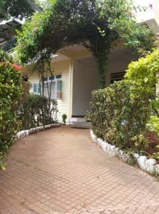 Walkway leading to the house
