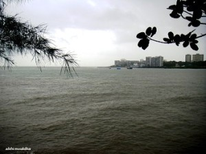 View of the Arabian Sea from BPT Garden