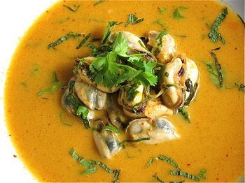 mussels curry