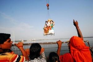 seeing off Ganesha