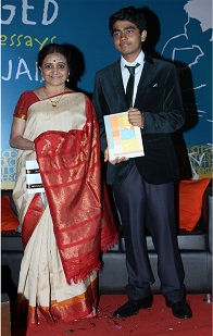 Bhawana Somaaya with Maulik Jain at his Book launch of Imagination Unplugged