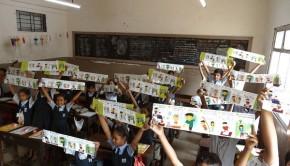 Children at a municipal school in Andheri