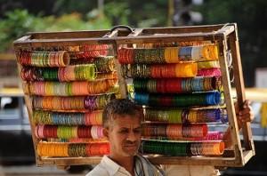 Bangle seller in Mumbai