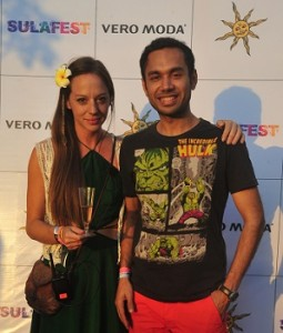Cecilia Oldne, Global Brand Ambassador & Head - International Business, Sula Vineyards with Chef Saransh Goila