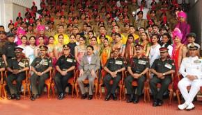 Victorious Maharashtra NCC cadets at the Raj Bhavan
