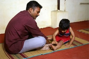 Working with an autistic child