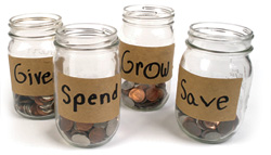 Teaching how to save and spend