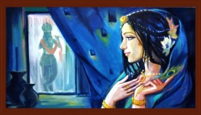 'Turshnaa' 16''x 30'' oil on canvas by Harshada Tondwalkar
